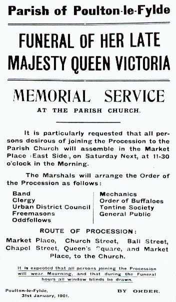 Memorial Service Poster for her late Majesty Queen Victoria